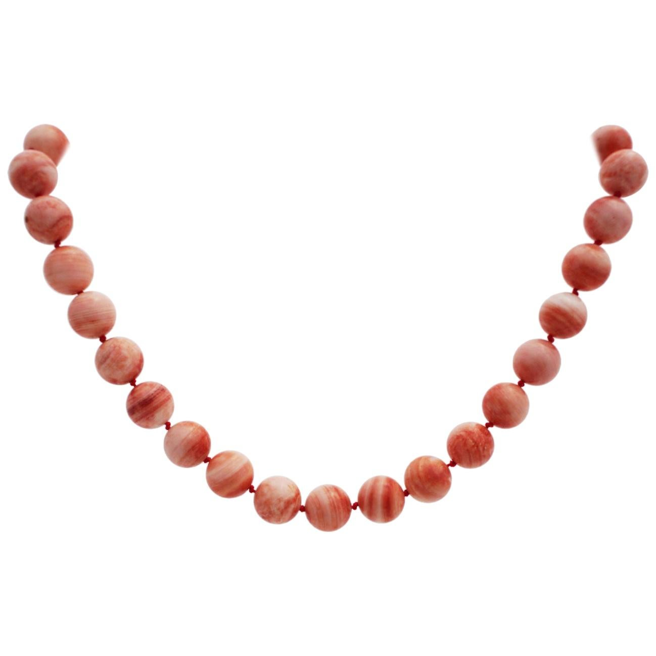 Necklace Made of Apple Coral