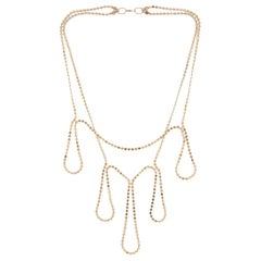 Necklace Minimal Flower Round Motif Chain 18k Gold-Plated Silver Greek Jewelry
