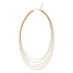 Necklace Minimal Long Box Chain Shiny 18 Karat Gold-Plated Silver Greek