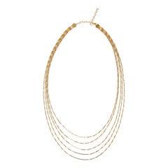 Necklace Minimal Long Box Chain Shiny 18 Karat Gold-Plated Silver Greek