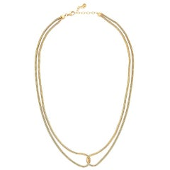 Necklace Minimal Short Double Snake Chain 18K Gold-Plated Silver  Greek Jewelry
