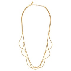 Necklace Minimal Short Movement Snake Chain Gold-Plated Brass Greek Jewelry
