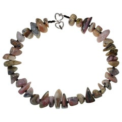 Necklace of Pink Peruvian Opal Nuggets