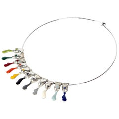 "Necklace ""Paint Tubes"" by Artist Arman, 2001"