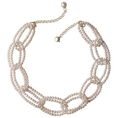 Necklace Pearl and Gold 18K