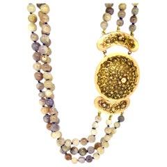 Necklace, Sapphire, Gold, Antique Dutch