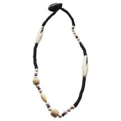 Necklace Shells Jet Coral Turquoise Lapis