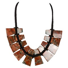 Necklace with Jasper Plates