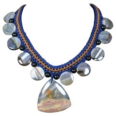 Necklace with Mexican Agate Plates