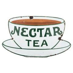Nectar Tea Porcelain Metal Sign