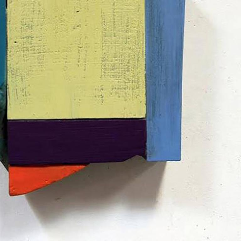 Face #7 - Wall Relief - Paint on Wood - Modern Abstract - Multicolored  For Sale 1