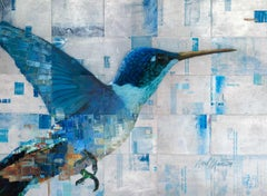 """Again,"" Abstract Hummingbird Painting"