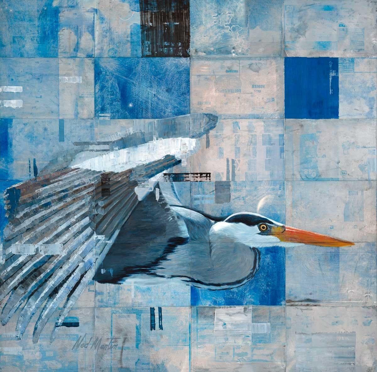 """""""Common Core,"""" Abstract Heron Painting"""