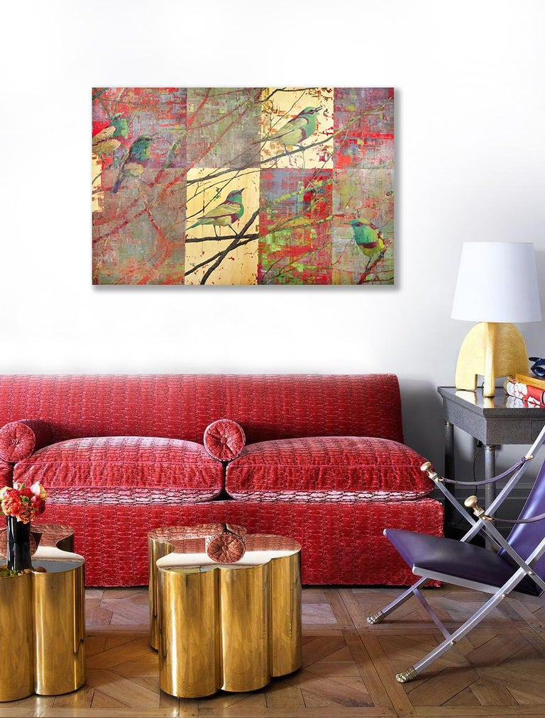 'Flirtation' Abstract Painting For Sale 1