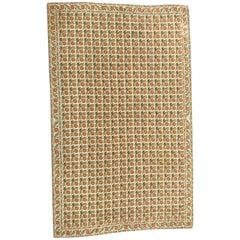 Needlepoint Large Aubusson Style Rug Floral Large Carpet, Aubusson Rugs