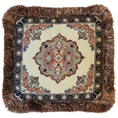 Needlepoint Pillow with Moroccan Design