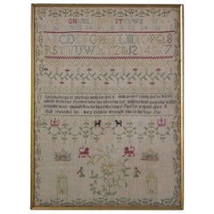 Needlework Sampler, 1781, by Mary Cannon