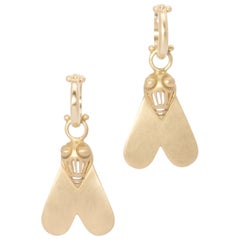 Nefertiti's Fly Drop Earrings in 18 Karat Gold
