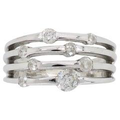 Negative Space Diamond Fashion Ring