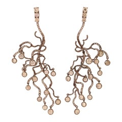 "Neha Dani Cognac Diamond ""Anemone"" Earrings"