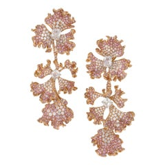 "Neha Dani Diamond and Gold ""Brassica"" Earrings"