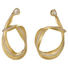 "Neha Dani Diamond and Gold ""Calista"" Earrings"