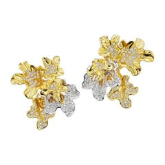 "Neha Dani Diamond and Gold ""Chantal"" Earrings"
