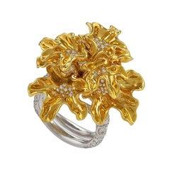 "Neha Dani Diamond and Gold ""Chantal"" Ring"