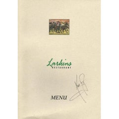 Neil Armstrong Autographed Dinner Menu