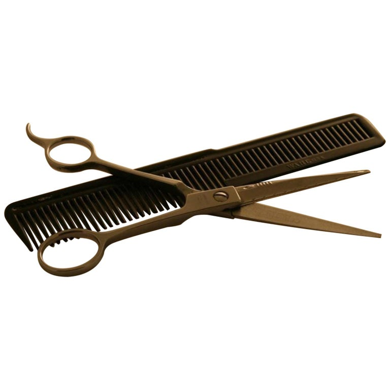 Neil Armstrong Hairdressing Scissors and Comb For Sale