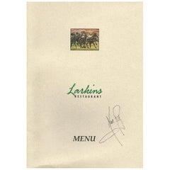 Neil Armstrong Original Autographed Dinner Menu, 1997