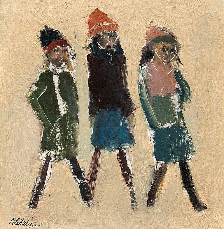 Carol Singers - Painting by Neil B Helyard
