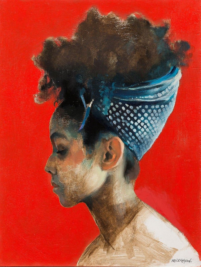 Neil B Helyard Figurative Painting - Feven