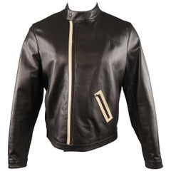 NEIL BARRETT M Brown Leather Jacket
