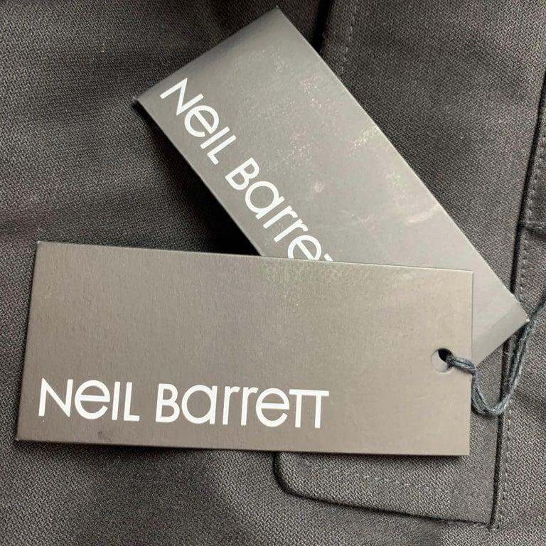 Men's NEIL BARRETT Size 30 Black Cotton Cargo Pockets Casual Pants