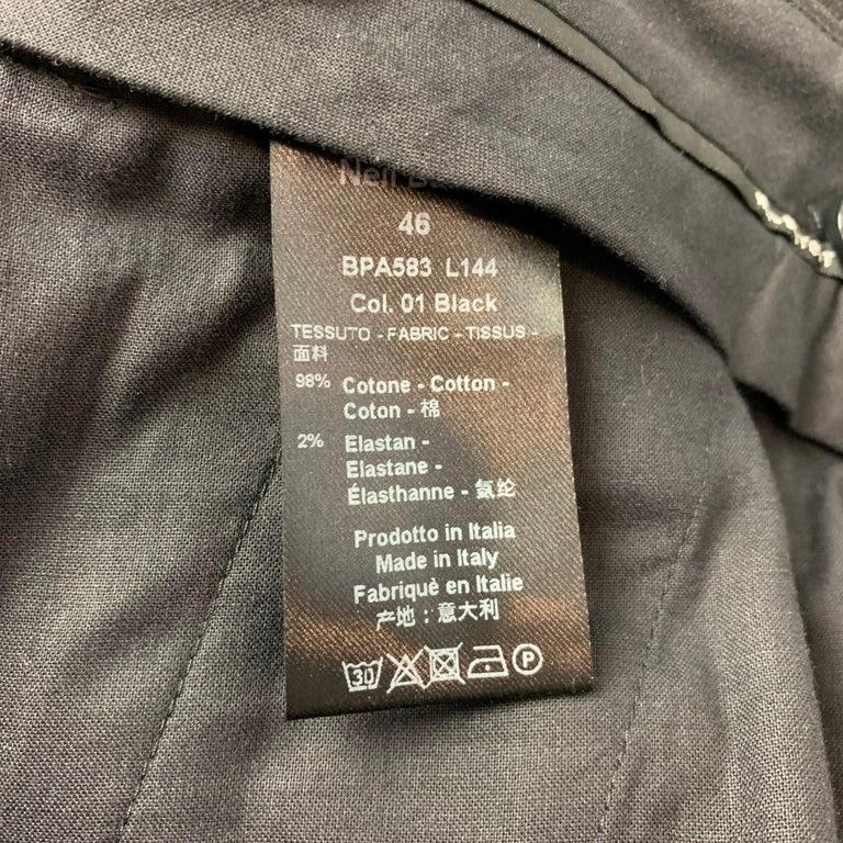 NEIL BARRETT Size 30 Black Cotton Cargo Pockets Casual Pants 1