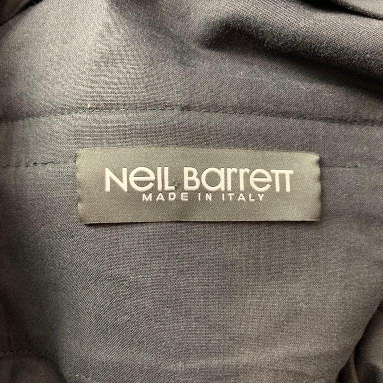 NEIL BARRETT Size 30 Black Cotton Cargo Pockets Casual Pants 2