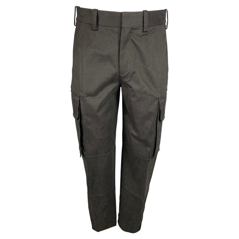 NEIL BARRETT Size 30 Black Cotton Cargo Pockets Casual Pants