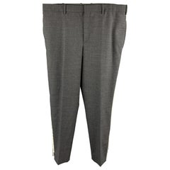NEIL BARRETT Size 36 Dark Gray Solid Wool Blend Tuxedo Dress Pants