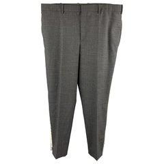 NEIL BARRETT Size 36 Dark Gray Solid Wool Blend Tuxedo Dress Pants