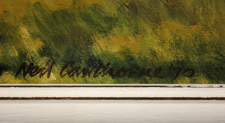 This original oil painting by Neil Cawthorne, dated 1970, is presented and supplied in a sympathetic contemporary frame (which is shown in these photographs). The frame dimensions are 54cm high x 64.5cm wide. the visible painting dimensions are 44cm