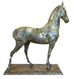Etrius 13/18 (bronze sculpture, verdigris finish, horse, equine, elegant)