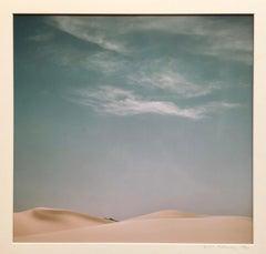 Great Dune and Clouds, Bikat Baraka Sinai Large Israeli Signed Color Photograph