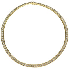 Neil Joseph Diamond Two-Tone Gold Collar Eternity Necklace
