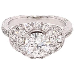 Neil Lane 14 Karat White Gold 0.80 Carat Diamond Engagement Ring