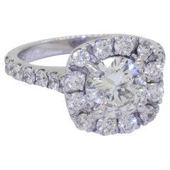 Neil Lane 14K White Gold 3.20ct Diamond Wedding Engagement Ring