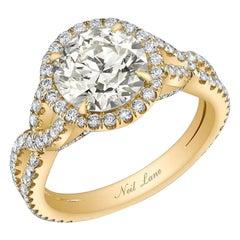 Neil Lane Couture Design Old European-Cut Diamond, 18K Yellow Gold Ring