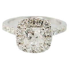 Neil Lane Cushion Cut Diamond Halo Engagement Ring