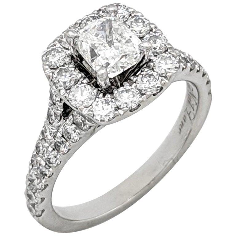 Neil Lane Cushion Halo Engagement Ring 2 1 6ct Tw Diamonds