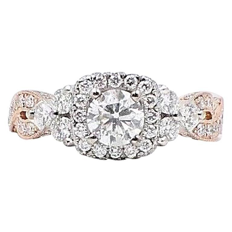 ffad2e9d4ebb1 Neil Lane Diamond Engagement Ring 1 5/8 Carat 14 Karat Rose Gold and White  Gold